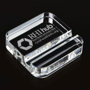 Square Crystal Phone Stand Paperweight