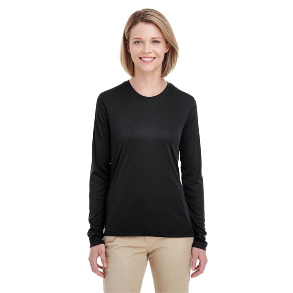 acfbc9efe86 UltraClub® Ladies  Cool   Dry Performance Long-Sleeve Top ...