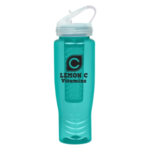 28 Oz. Poly-Clean Sports Bottle With Fruit Infuser